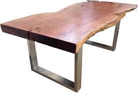 Wohnzimmertisch Platte Esstisch Aus Einem Baumstamm Der Tischonkel