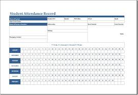 monthly attendance templates in ms excel college graduate sample