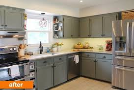 1950s kitchen furniture before after a 1950s kitchen gets a modern diy makeover