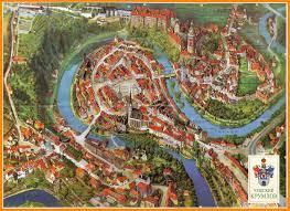 Bohemia Map český Krumlov A Well Preserved Late Medieval Town In Southern