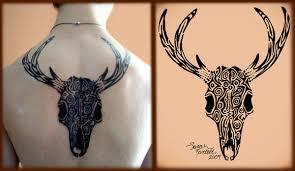 tribal deer skull by naturepunk on deviantart