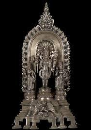 sold silver vishnu statue with garuda 10 16b9 hindu gods