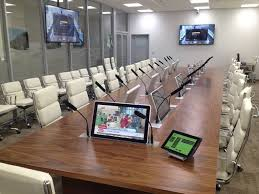 conference table with recessed monitors arthur holm s customised solutions arthurholm