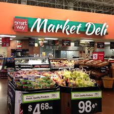 foodservice interior design dimensional signs supermarket design