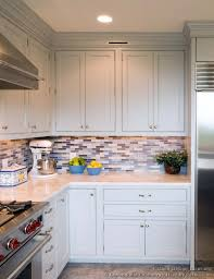 Blue Kitchen Backsplash by Kitchen Interior Kitchen Great Kitchen With Brown Cabinet And