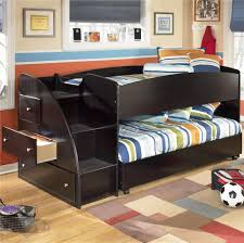 Kids Beds With Storage And Desk by Twin Loft Bed With Caster Bed And Left Storage Steps By Signature