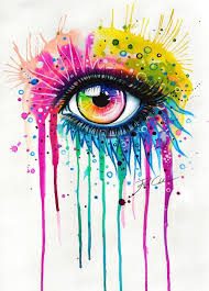 dont cry face abstract pinterest eye art watercolor and