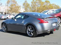 blue nissan 370z 2016 used nissan 370z 2dr cpe sport tc at at marin honda serving