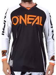 women s motocross jersey oneal black white orange 2017 mayhem lite blocker mx jersey