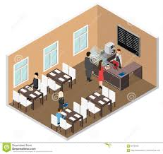 Coffee Shop Floor Plans Free Cafe Isometric View Vector Stock Vector Image 85786453