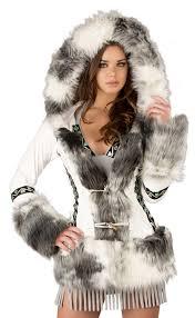 cs225 eskimo white coat hooded white eskimo coat j valentine