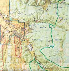 aspen map trail map of aspen independence colorado 127 national