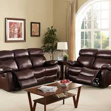 Genuine Leather Reclining Sofa Sofa Dante Reclining Set The Furniture Shack Discount Leather
