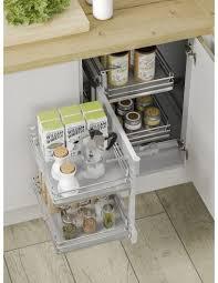 kitchen corner cupboard storage solutions uk 800mm kitchen blind corner optimiser solid base storage