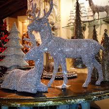 raz imports 26 rhinestone deer silver set of 2