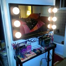 Lighted Makeup Vanity Mirror Makeup Vanity Table With Mirror U2013 Makeup Table Vanity Glass