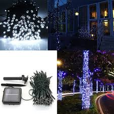 solar led christmas lights outdoor 10m 100 led pure white solar power string lights outdoor garden lawn