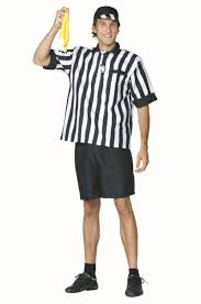 referee costume soccer referee costume football costume with yellow flag