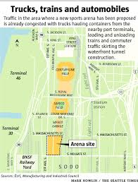Centurylink Field Map Closing Sodo Street To Benefit Arena Plan Is No Slam Dunk The