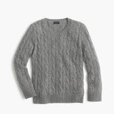 kids u0027 cashmere cable crewneck sweater boys u0027 cashmere j crew