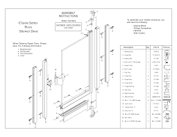 Alumax Shower Door Parts Fantastic Shower Enclosures Parts Contemporary Bathtub For