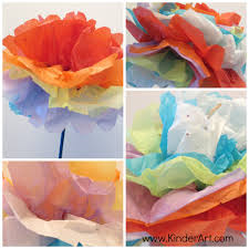 tissue paper carnations monthly seasonal crafts kinderart
