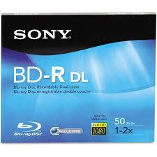 bd r dual layer recordable disc 50gb 2x walmart
