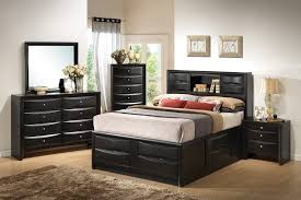 Bedroom Sets Atlanta Collection 202701 Black Storage Bedroom Set