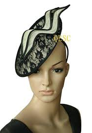 lace fascinator sinamay hat disc lace fascinator hair accessory for wedding races