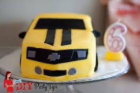 transformers bumblebee cake u2013 lola u0027s diy party tips