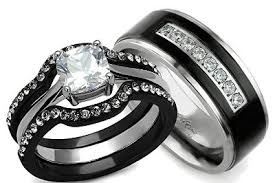 black wedding rings his and hers wedding ring stunning ideas you need to