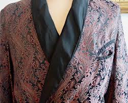 robe de chambre homme cachemire peignoir robe de chambre pour homme brocart au motif