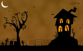 orange halloween hd background scary halloween desktop themes