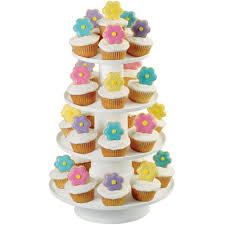amazon com wilton 4 tier stacked cupcake and dessert tower