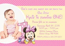 minnie mouse first birthday invitations christmanista com