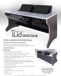 Recessed Monitor Computer Desk Ilid Duo Dual Computer Monitor Flip Desk