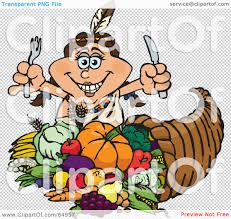 thanksgiving cornacopia royalty free rf clipart illustration of a thanksgiving native