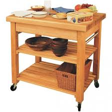 Kitchen Islands On Casters Gorgeous Rolling Kitchen Island Cart With Wooden Fruit Bowl Above
