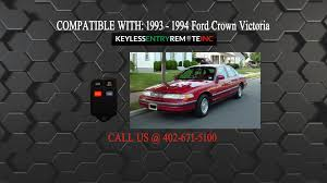 how to replace ford crown victoria key fob battery 1993 1994 youtube