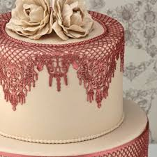 cake lace pavoni magic decor original cake lace silicone mat design no 7