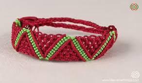 bracelet pattern tutorials images Zigzag and chevron macrame bracelet tutorials the beading gem 39 s JPG