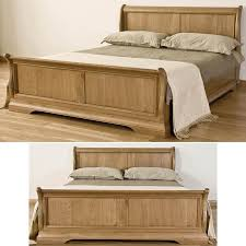 french solid oak 6 u0027 super king size sleigh bed amazon co uk