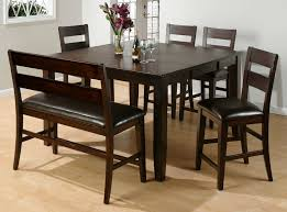 value city furniture dining room sets with bench mocha stained