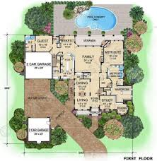 House Plans Courtyard by Vonette Porte Cochere House Plan Courtyard House Plan