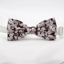 floral bowtie mens bow tie brown white floral bowtie pre men women boy baby