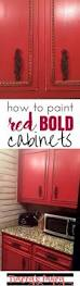 How Paint Kitchen Cabinets Best 25 Red Cabinets Ideas On Pinterest Red Kitchen Cabinets