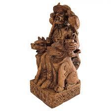 seated odin norse father god statue wood finish celtic god