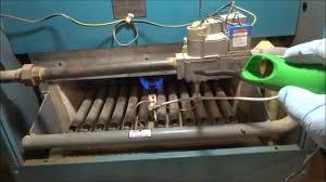 utica gas boiler pilot light gas boiler no heat pilot went out youtube