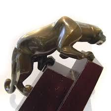 mountain lion statue jan rosetta bronze mountain lion signed patinated