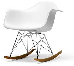 baxton studio white plastic rocking chair midcentury rocking